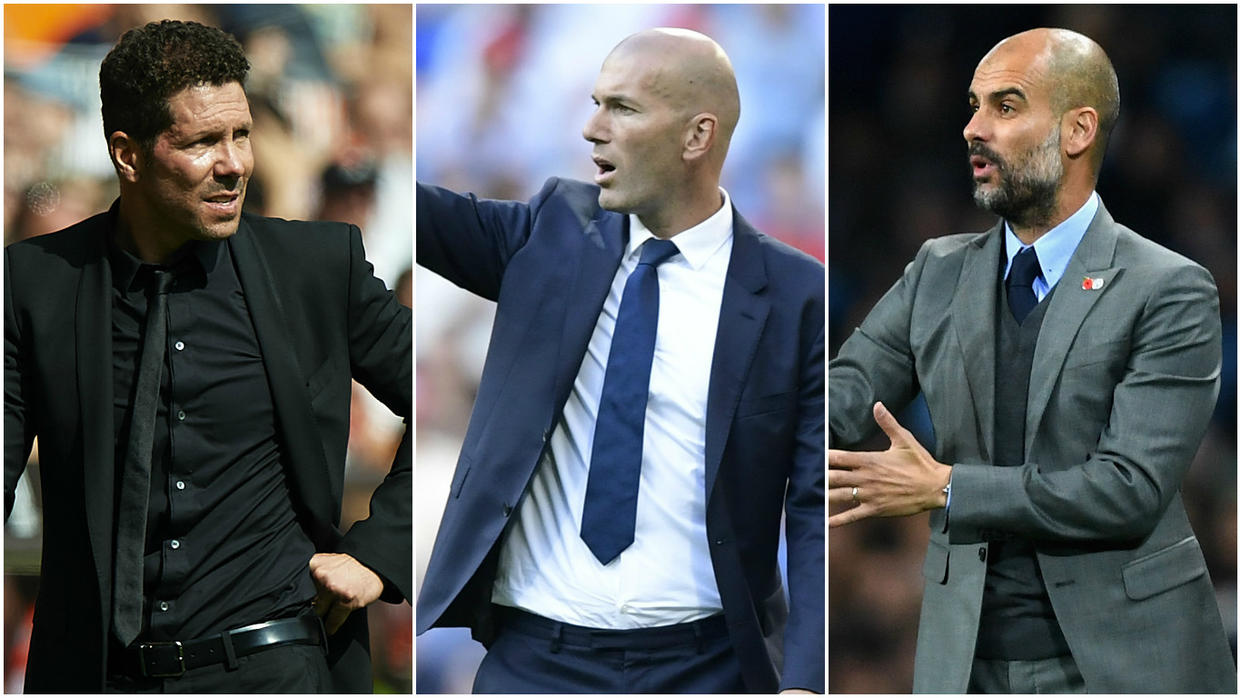 Zidane, Simeone, Guardiola