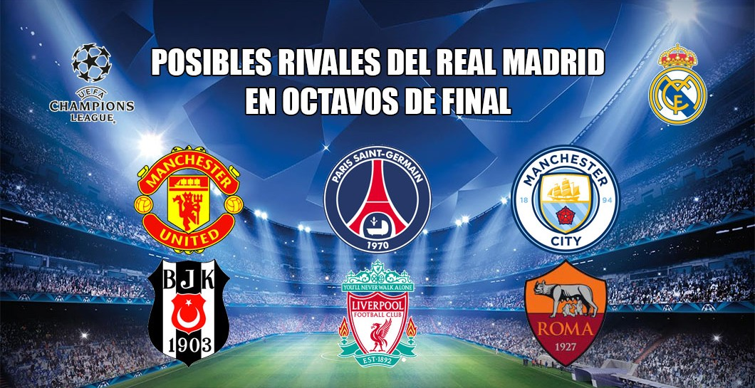Posibles rivales octavos Champions