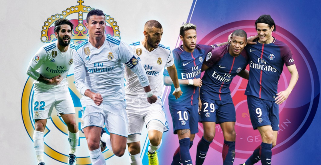 Real Madrid, PSG, Champions