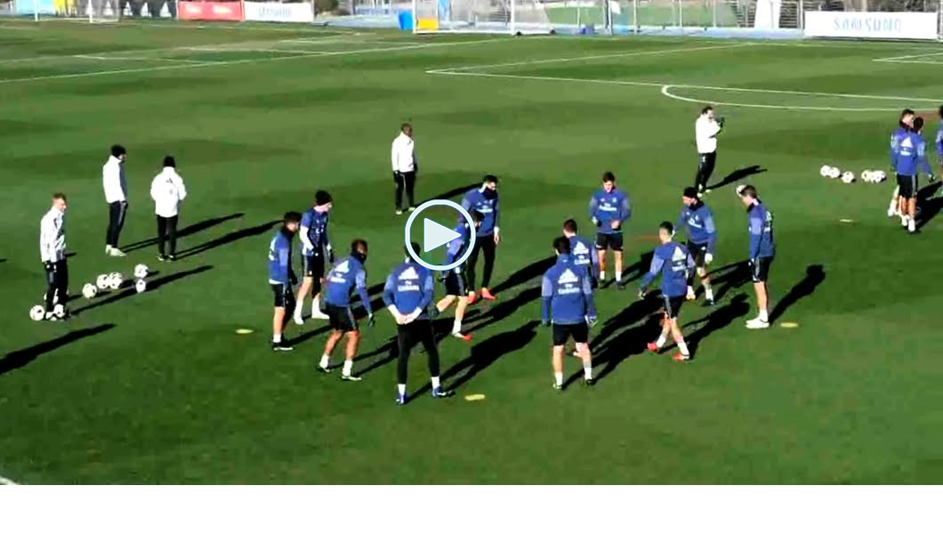 Entrenamiento, Real Madrid, vídeo