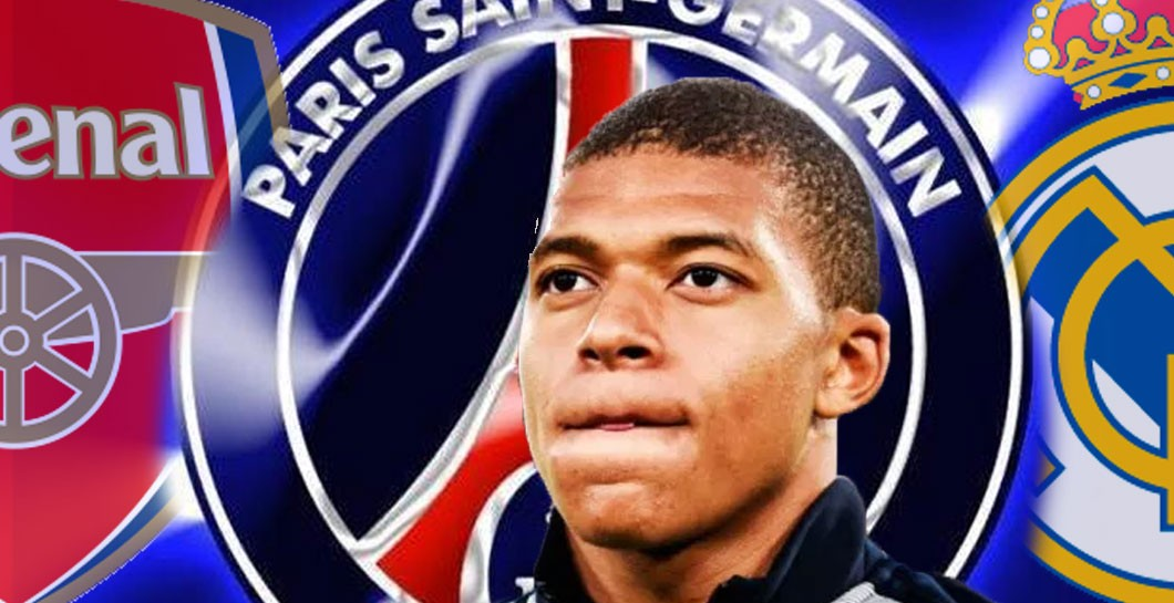 Montaje Mbappé, Real Madrid, Arsenal y PSG