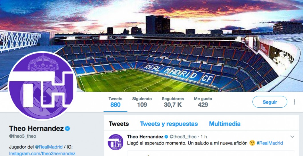 Theo, Real Madrid, Twitter