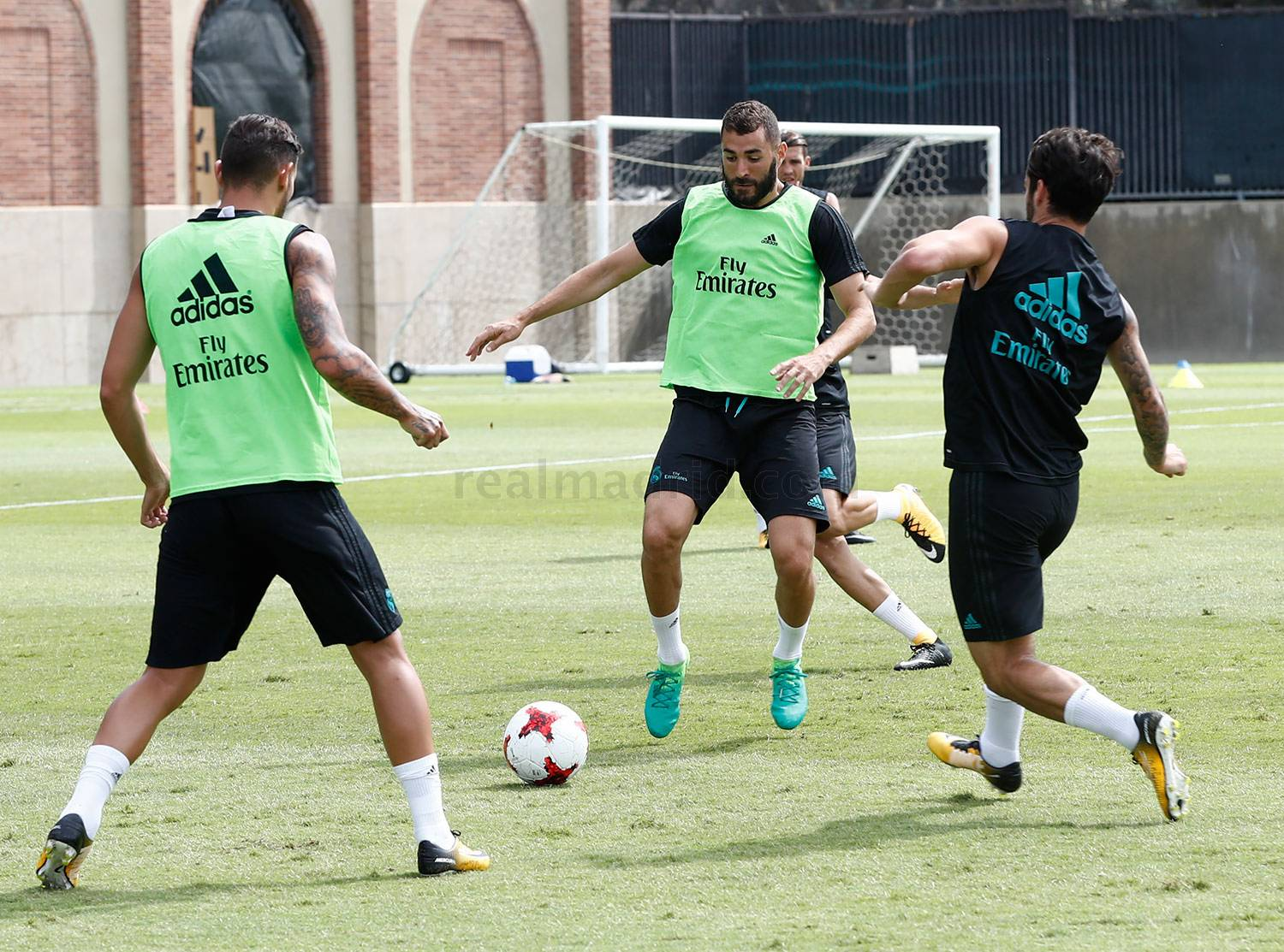 Entrenamiento, Real Madrid, UCLA