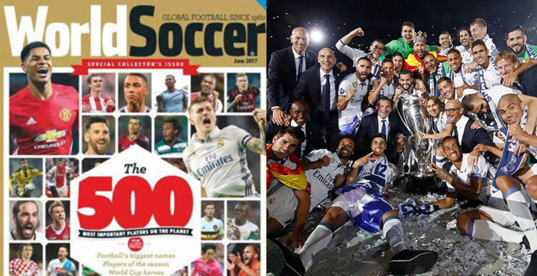 Montaje World Soccer 500 y Real Madrid