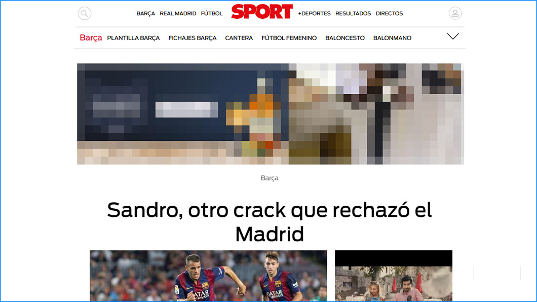 Sport, Sandro, Real Madrid