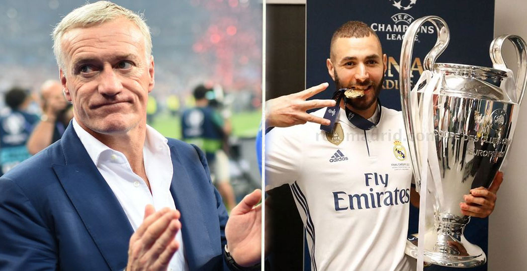 Montaje Deschamps y Benzema