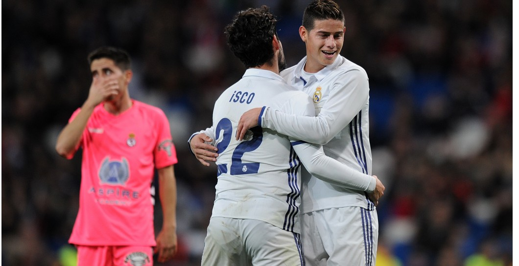 Isco, James Rodríguez, Real Madrid