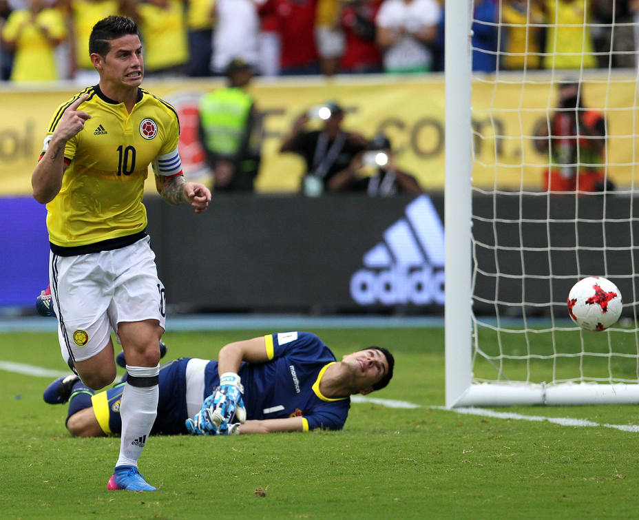 James, gol, Colombia