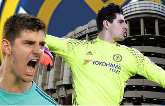 Montaje Thibaut Courtois y Real Madrid