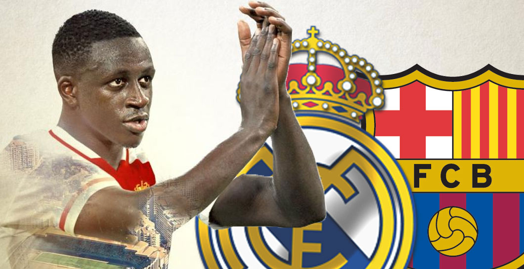 Montaje Mendy Real Madrid y FC Barcelona