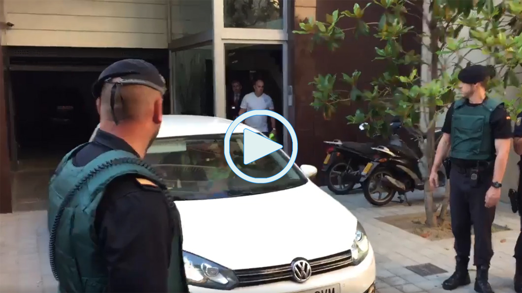 Sandro Rosell, Guardia Civil, Salida, Video