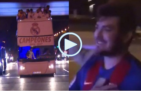 Autobus Real Madrid y culé