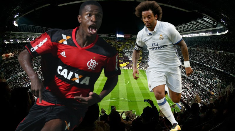 Marcelo, Vinicius, montaje, Real Madrid