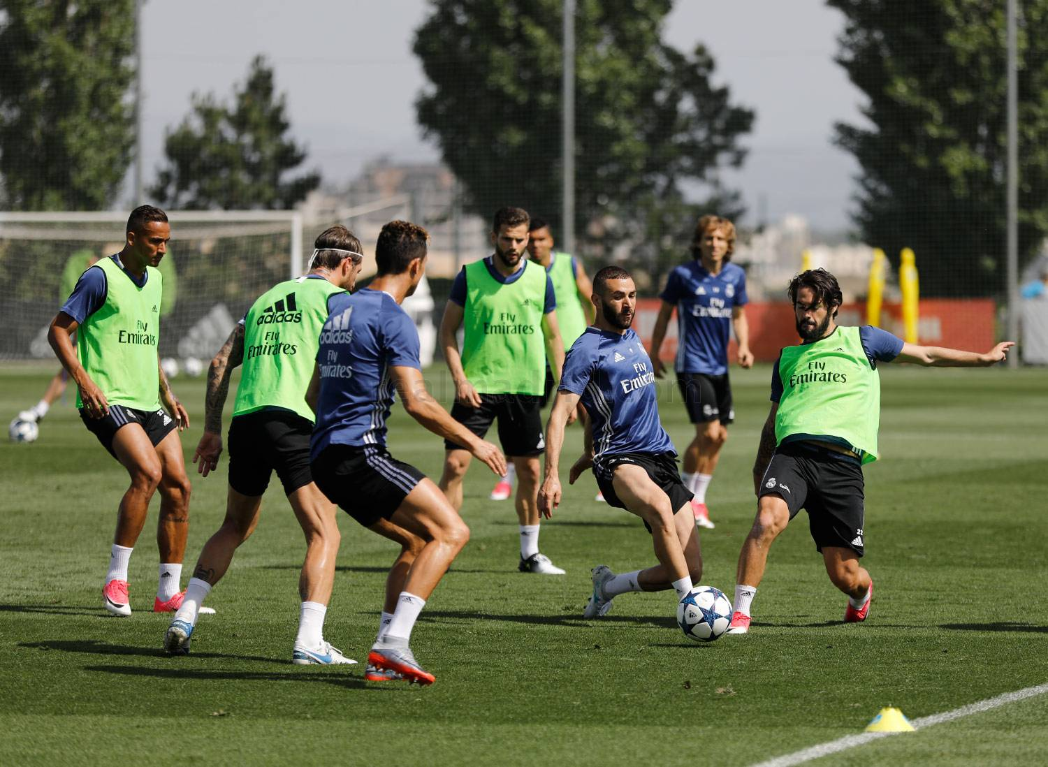 Real Madrid entrenamiento Champions League