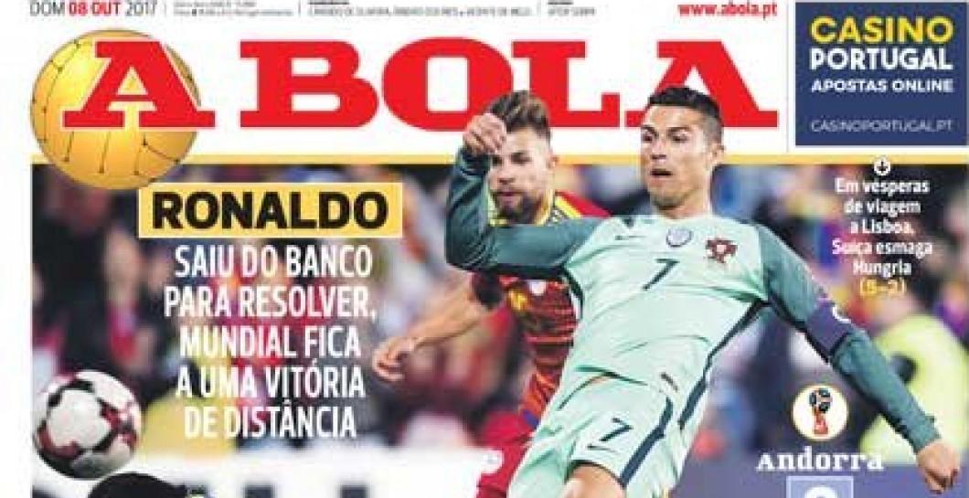 A Bola, portada, Cristiano Ronaldo