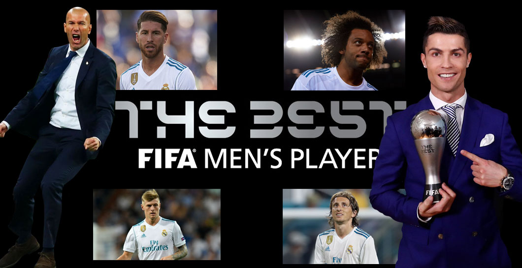 Montaje ganadores Real Madrid The Best