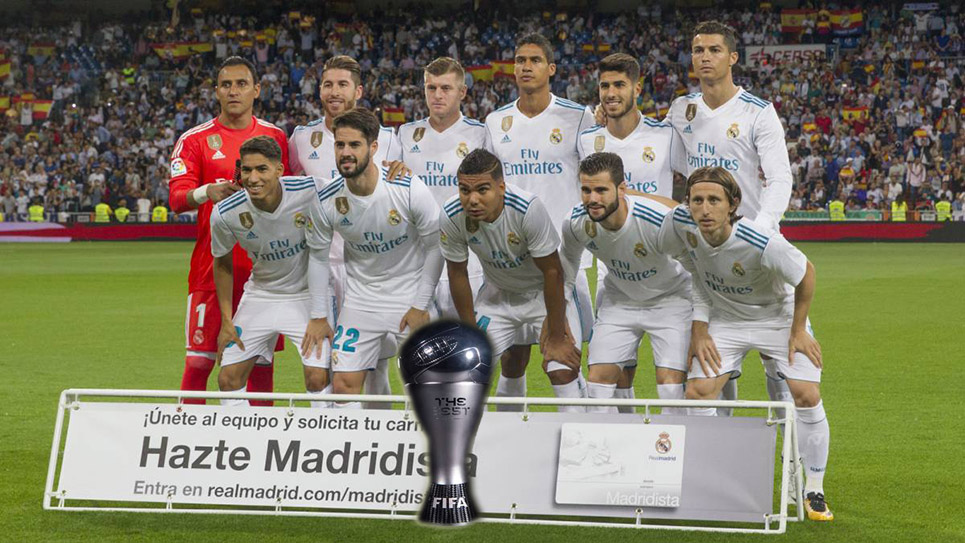 El Real Madrid será el gran triunfador de la gala 'The Best'