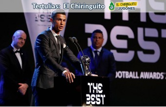 Cristiano Ronaldo, con el premio 'The Best'