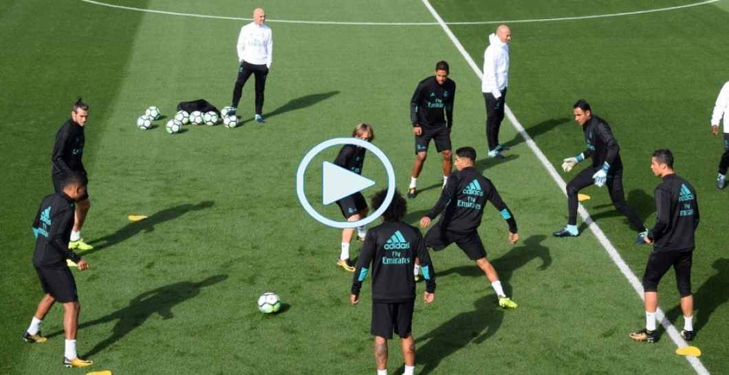 Entrenamiento, vídeo, Real Madrid