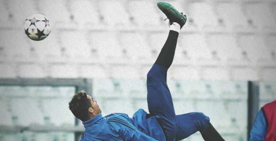 Chilena, Cristiano Ronaldo, entrenamiento