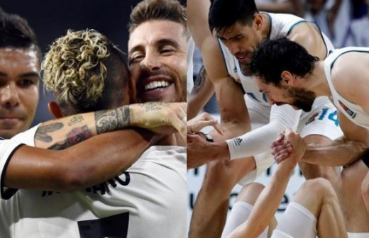 La sorpresa de los jugadores del Real Madrid