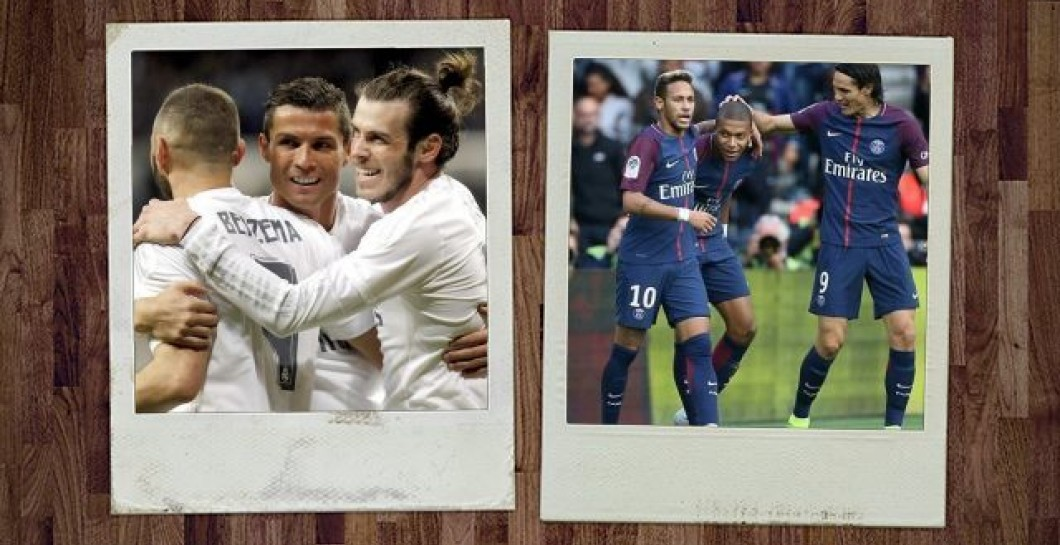 Tridentes de Real Madrid y PSG