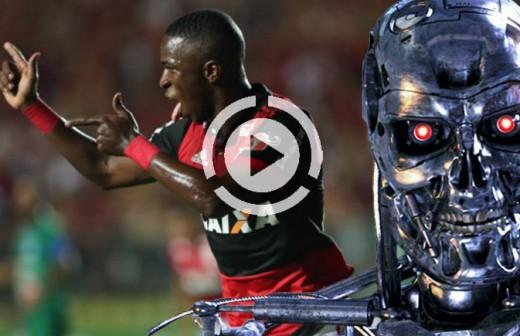 Vinicius, en 'modo Terminator': gol, título y lesión de un defensa al intentar pararle