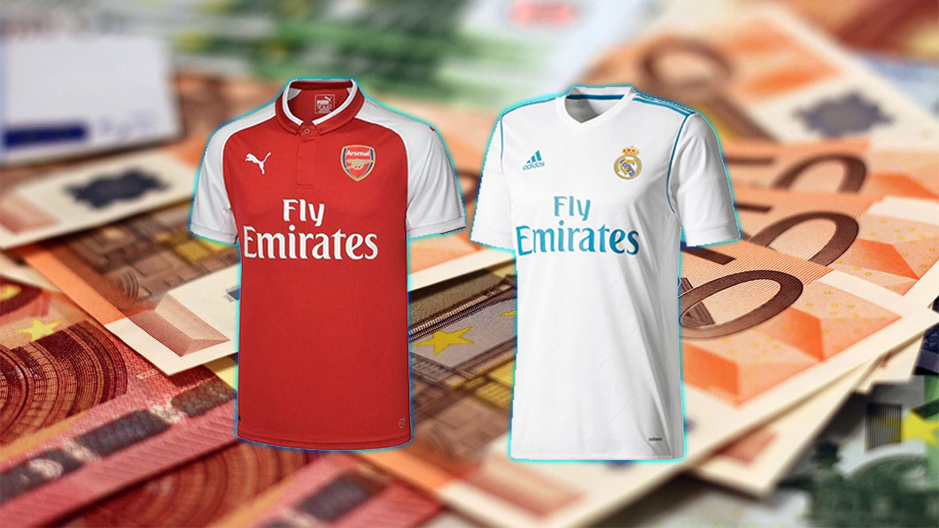 Fly Emirates, Arsenal, Real Madrid