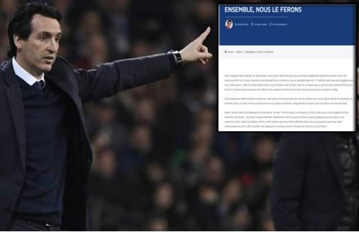 Emery motiva al PSG con una arenga 'chulesca'