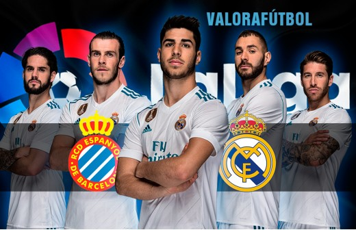 Puntúa a los jugadores del Espanyol - Real.Madrid con DC y ValoraFútbol