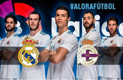 Puntúa a los jugadores del R.Madrid - Deportivo con DC y ValoraFútbol
