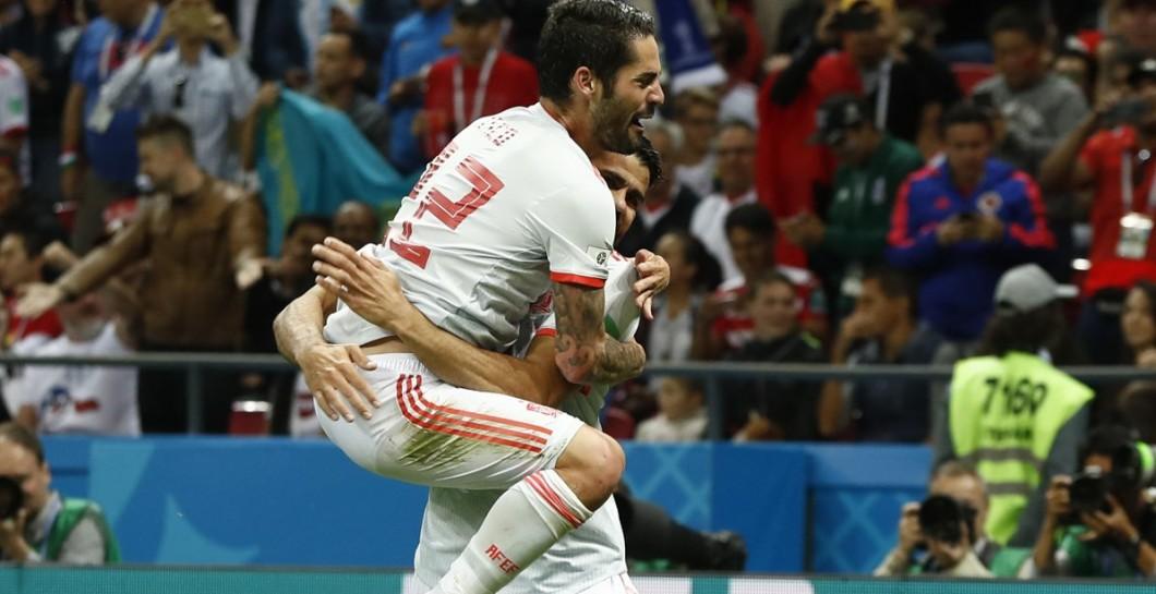 Gol de España ante Irán