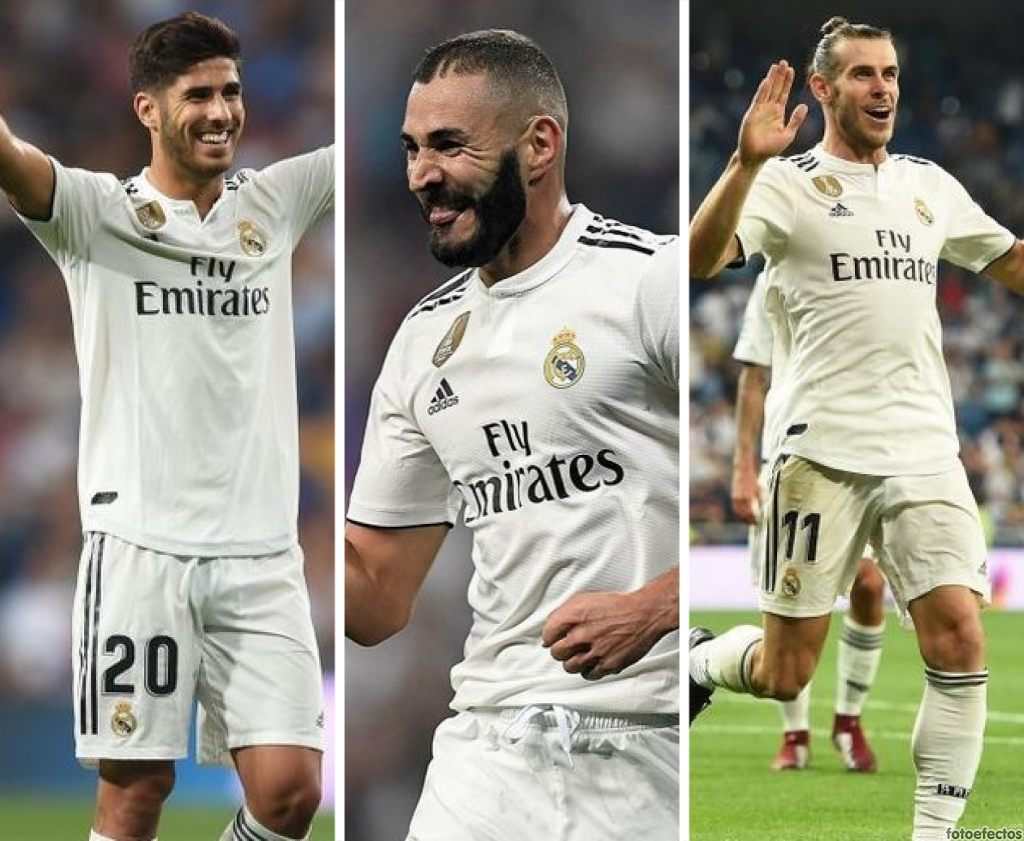 Asensio, Benzema y Bale