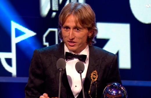 El discurso de Modric tras conseguir el The Best