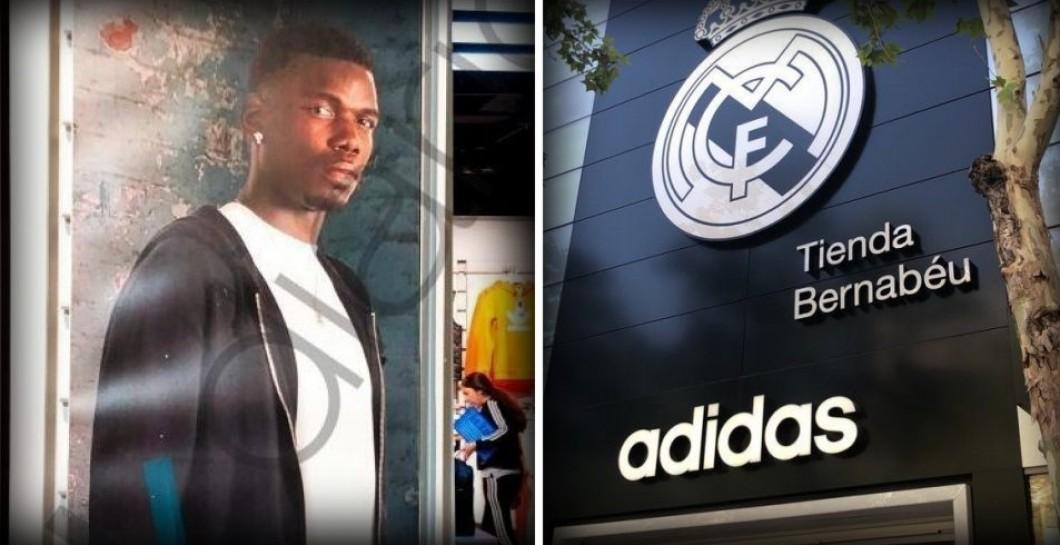Escribe un reporte tonto auxiliar  Morbazo! Pogba ya aparece en la tienda Adidas del Bernabéu | Defensa Central