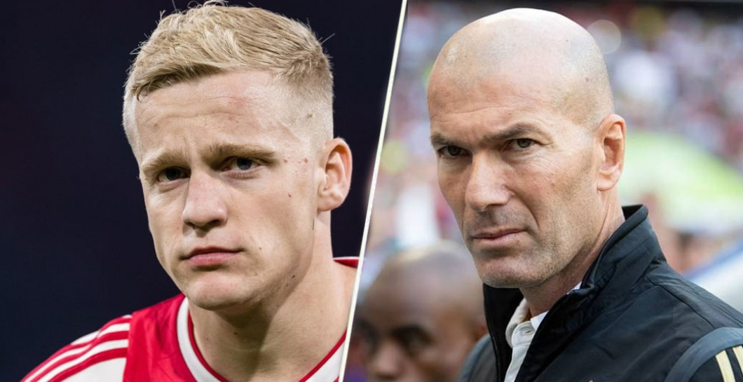Van de Beek and Zidane