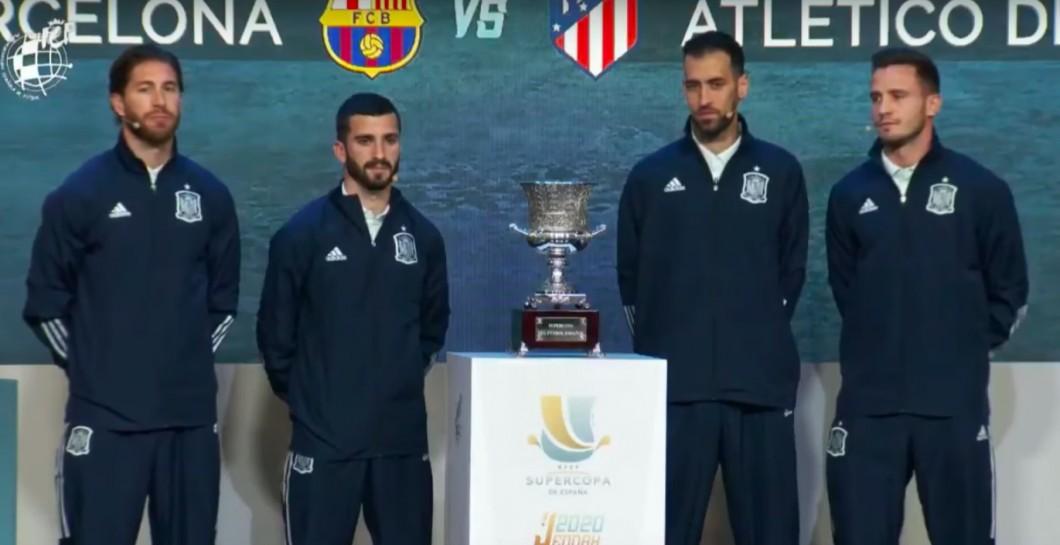 El culé Busquets 'lloró' en pleno sorteo de la Supercopa - Defensa Central