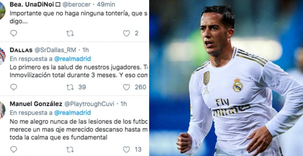Lucas Vázquez se rompe un dedo al caérsele una pesa encima