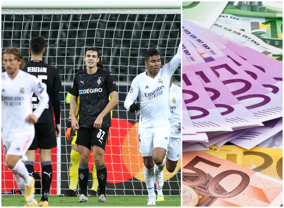 Gladbach vs Madrid y dinero