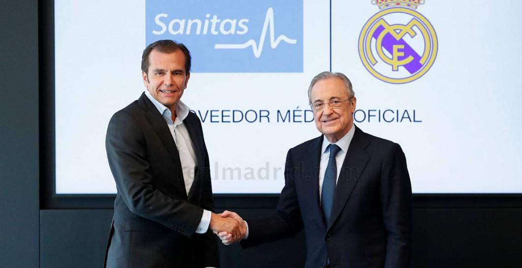 El Madrid renueva su compromiso con Sanitas hasta la 23-24 y en redes se recuerdan las lesiones