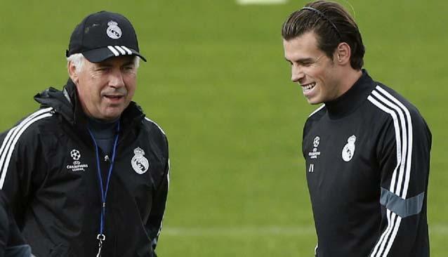 Ancelotti y Gareth Bale
