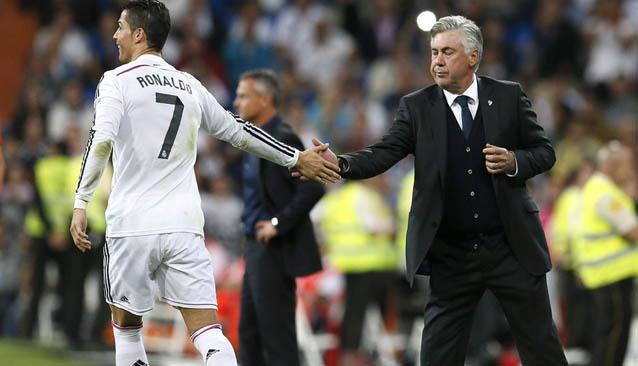 Ancelotti y Cristiano Ronaldo
